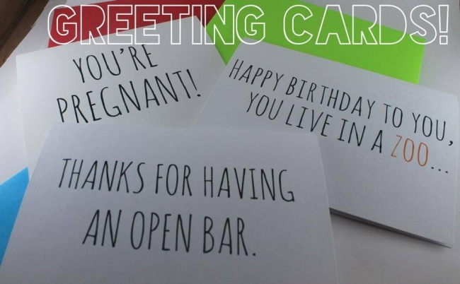 BE paperie humor greeting cards